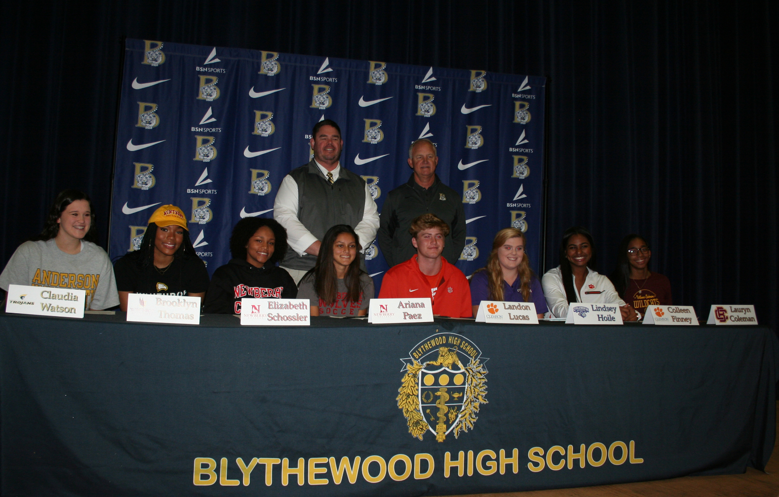 Eight Bengals Sign Scholarship Offers