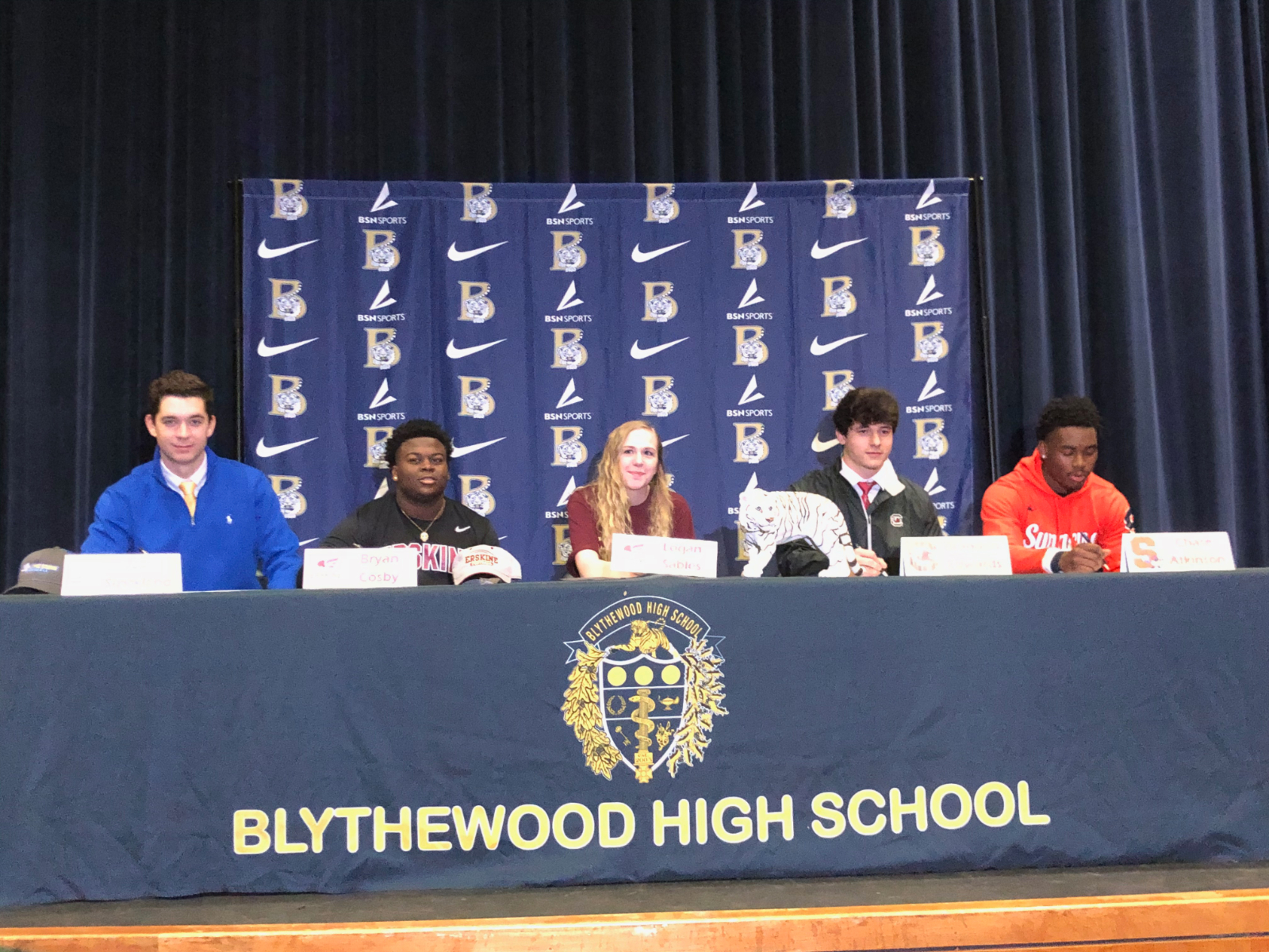 Five Bengals Recognized At Signing Ceremony