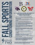COVID Guidelines For Return To Athletics – Fall Athletics
