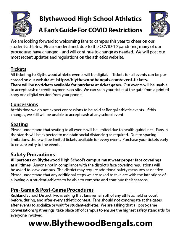 A Fan's Covid Guide To Returning To Blythewood Athletics
