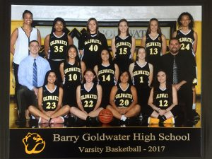 Goldwater Girls Basketball Teams 2017-2018
