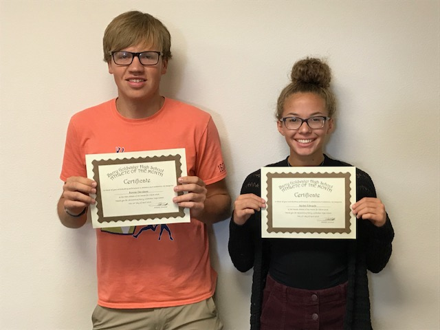 Jayden Edwards and Rowan Davidson Named March Athletes of the Month