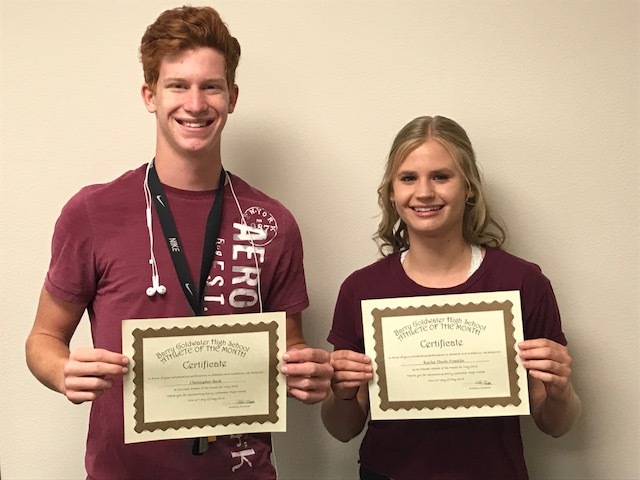 Kaylee Doole-Franklin and Chris Beck named May Athletes of the Month