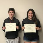 Siarra Otero and John Jacklin Named September Athletes of the Month