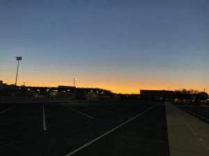 Sunrise over Barry Goldwater!