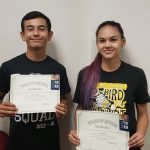 Miguel Sanders and Sera Palmer Named September Athletes of the Month