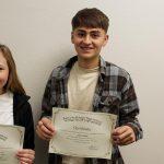 Daniel Monge and Jocelyn Everett Named November Athletes of the Month