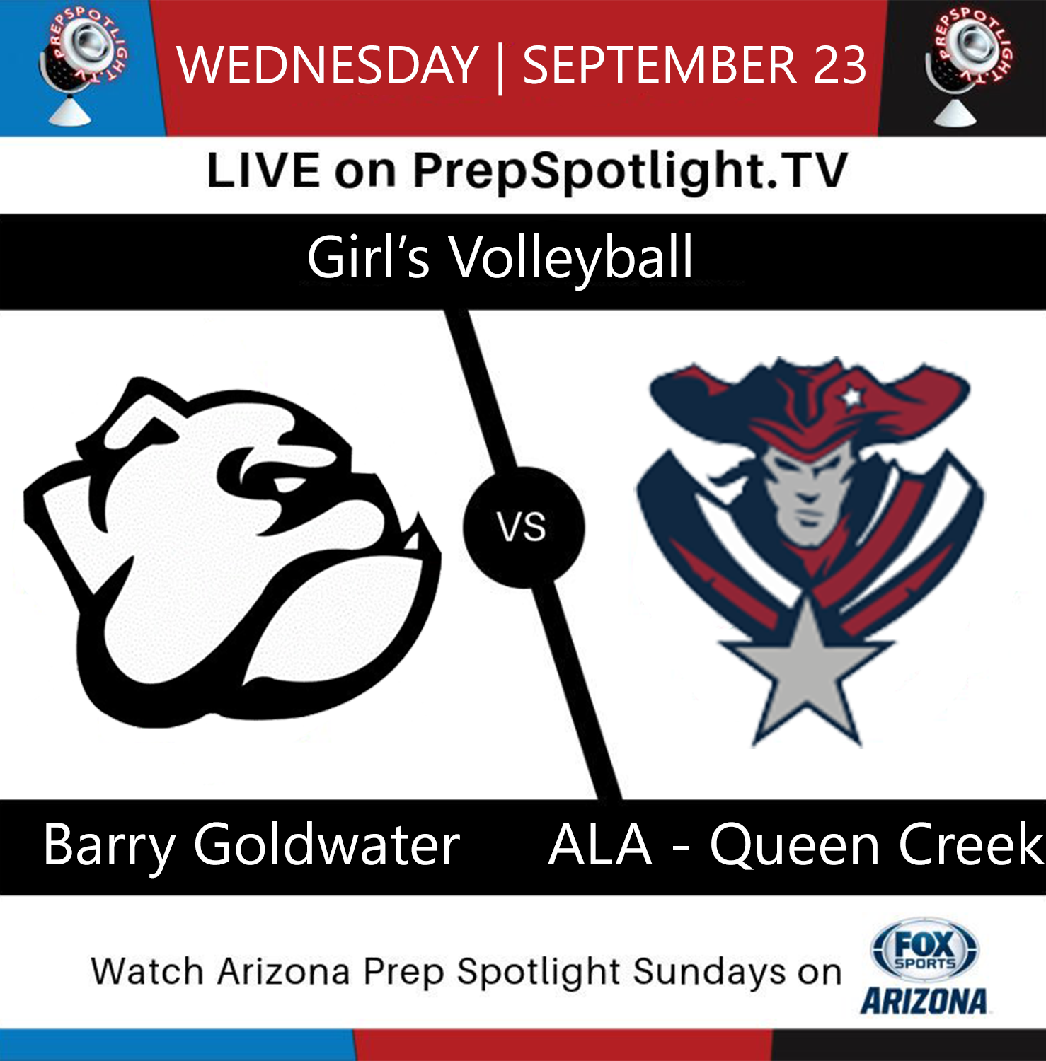 Girls Volleyball on 9/23 Will Be Streamed