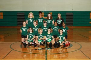 Girls Volleyball 8th Grade B Team