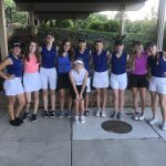 Girls Varsity Blue Golf Defeats Lebanon 187 – 201