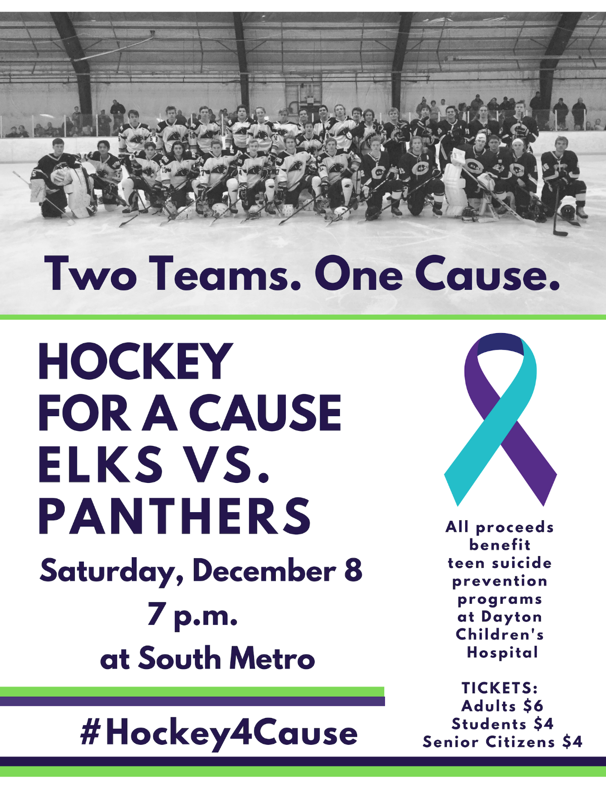 Hockey For A Cause – Saturday, December 8th