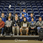 Varsity Wrestling finishes 1st place at GWOC Tournament