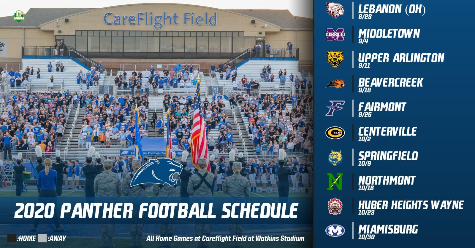 2020 Springboro Football Schedule