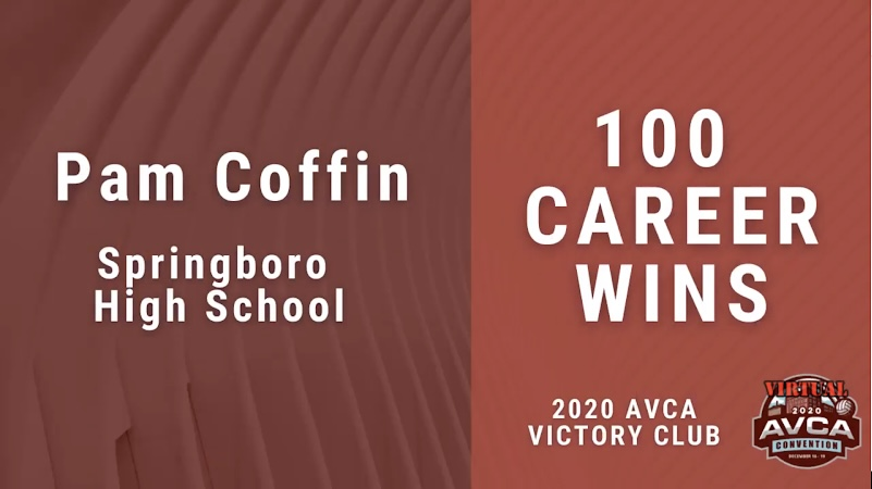 Volleyball Coach Pam Coffin joins the AVCA Victory Club
