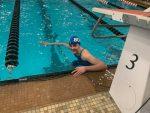 Hill, Susec, Christensen GWOC Swim Champs, Hannah Hill GWOC Athlete of the Year