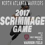 2017 Fall Scrimmage Game Aug 4 @ 7:30