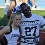 Varsity Cheerleaders lead our fans to victory against KAC