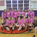 Traverse City Central High School Girls Varsity Volleyball beat Leland Tournament 6-0
