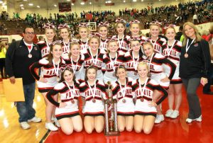Cheerleaders at State Competition