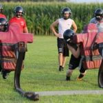 CP football focusing on fundamentals during first practices