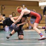 Clinton Prairie High School Varsity Wrestling falls to Red Ramblers 30-51