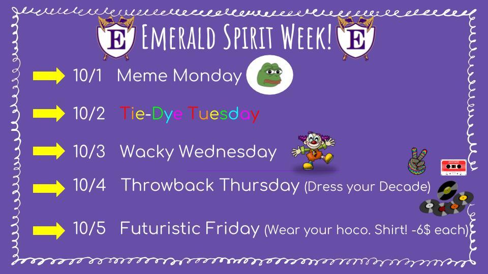 Homecoming Week October 1-5