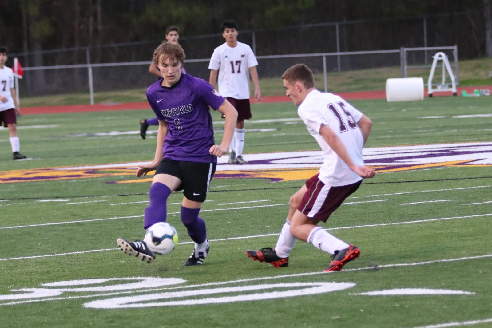 Boys Varsity Soccer defeats Woodruff 3-1