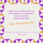 Emerald Cheer Information Is Here!