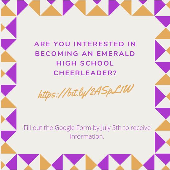 Emerald Cheer Information Is Here!