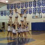 Varsity Cheer at BBall and Wrestling Match