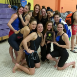 Girls Varsity Swimming finishes 1st place at 4A/3A North Region Championships