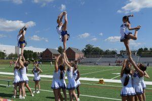 Varsity Cheer at Wheaton Game