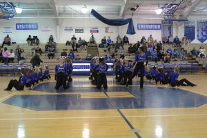 Poms at Basketball game vs Churchill