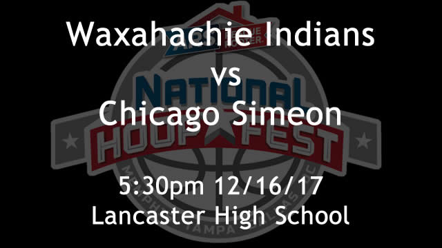 Waxahachie vs Chicago Simeon