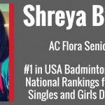 AC Flora Senior Ranks #1 Nationally in Badminton