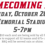 Homecoming BBQ Oct 20th – Tickets On Sale