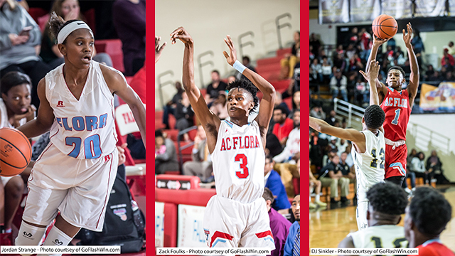 Three Falcons Named to 2018 SCBCA All-State Teams