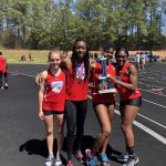 Girls Varsity Track finishes 1st place at Allen Invitational