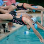 Both Girls and Boys Swim Take Three Firsts in Double-Dual Meet
