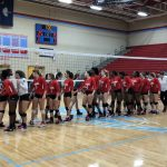 Falcons Varsity Volleyball win 1st round playoff game against Bluffton, 3 – 1