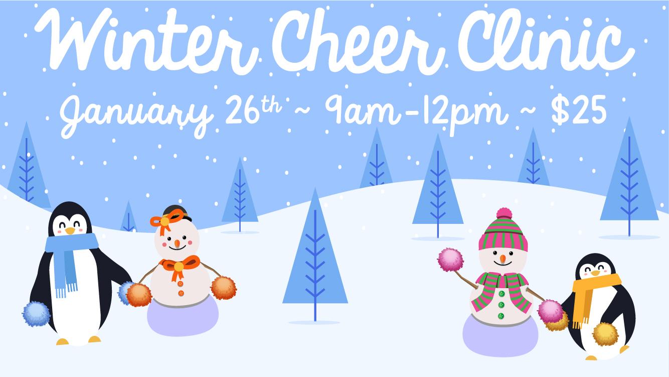 Winter Cheer Clinic – Saturday, January 26th