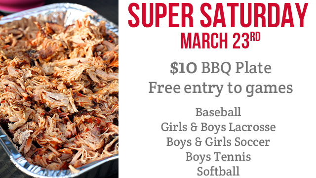 Super Saturday March 23rd – BBQ Plates On Sale Now