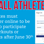 Summer practice? Make sure you're registered!