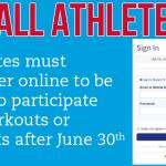 Summer practice? Make sure you're registered!