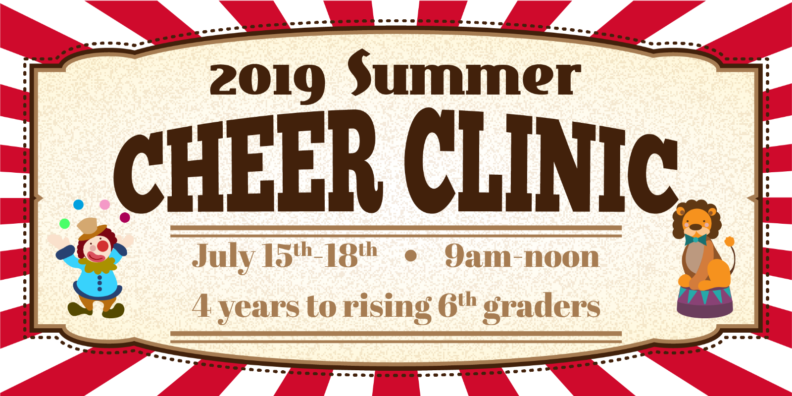 Register Now for the 2019 Summer Cheer Clinic