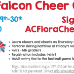 Mini Falcon Cheer Camp – August 29th-30th