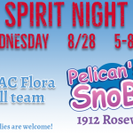 Wednesday is Football Spirit Night at Pelican's