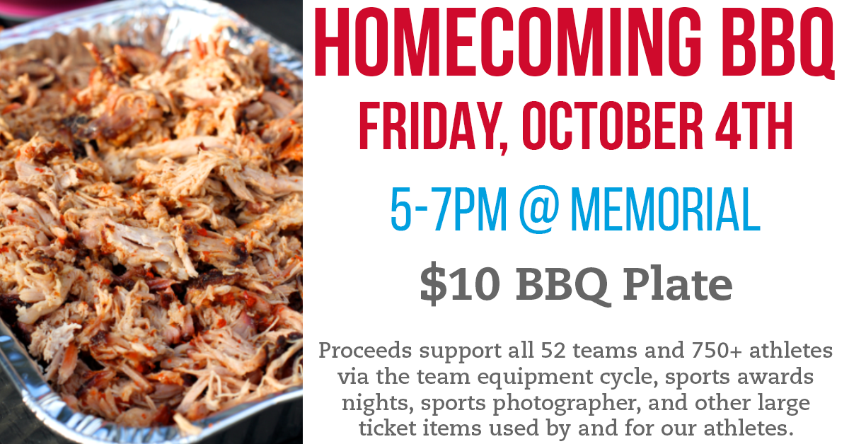Homecoming BBQ October 4th – Tickets On Sale