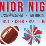 It's Senior Night for Football, Cheer, Band, and JROTC