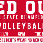 Lower State for Volleyball on Tuesday – RED OUT and Free Entry for 1st 100 Students Wearing Red
